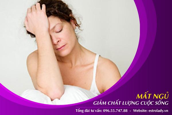 mất ngủ giảm chất lượng cuộc sống