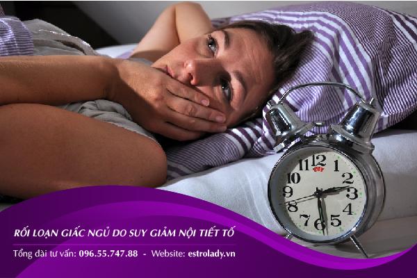 rối loạn giấc ngủ do suy giảm nội tiết tố nữ