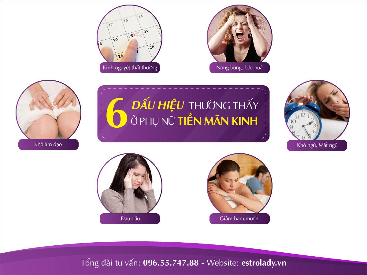 dấu hiệu thường thấy ở phụ nữ tiền mãn kinh