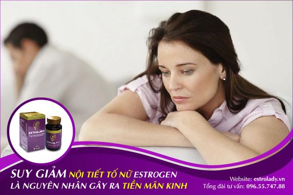 suy giảm estrogen là nguyên nhân gây nên hội chứng tiền mãn kinh