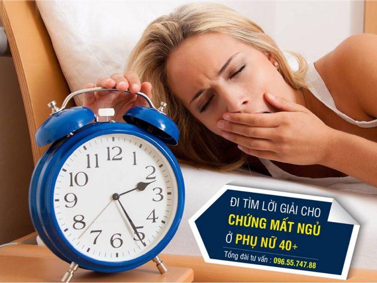 chữa mất ngủ tiền mãn kinh