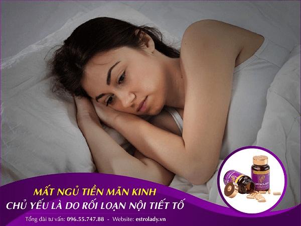 mất ngủ ở phụ nữ tiền mãn kinh