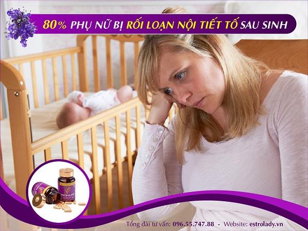 cân bằng nội tiết tố sau sinh